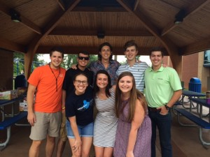 Our Summer LINK Team | back row: Ethan Pierce, Connor Slay, Ben Croft, Ben Ridgeway, and Ben Hanson | front row: Ceci Pierce, Shelby Kelly, and Katherine Bowers