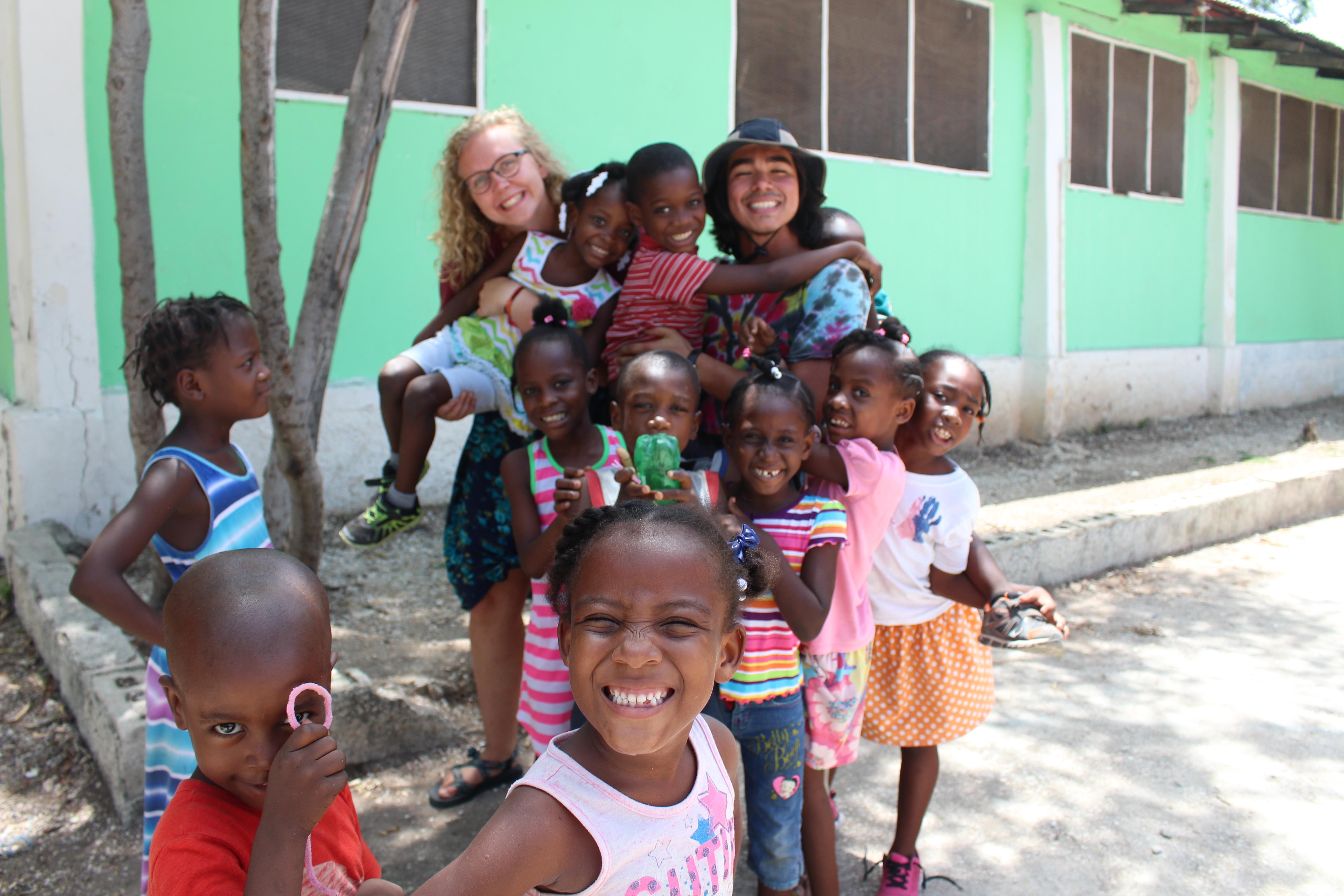 Teen girls Haiti